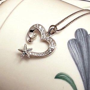 Jewelry - NEW S925 Nautical Heart Shape Wave Starfish